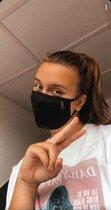 Mondkapje Wasbaar - Katoenen Mondmasker - Mouth Mask - Stoffen Mond masker - Herbruikbaar Mond Kapje - Zwart - JS-Sportstore