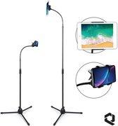 Universeel Telefoon & Tablet Statief Tot Wel 190 cm Hoog! De Standaard Tripod Houder Voor Elke Smartphone, Ipad, Iphone