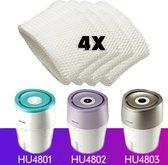 4x Lucht bevochtiging filter voor Philips HU4801 / HU4802/ HU4803 luchtbevochtiger
