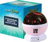 HBKS Happy Dreams Sterren Projector - Galaxy Projectie - Star Light - Sterrenhemel Snoezellamp - Slaaptrainer Baby - Nachtlampje Kinderen - Speelgoed Jongens en Meisjes - Projectorlampen - Babyprojectors - Licht Blauw