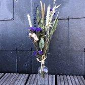 Droogbloemen | Droogbloemen boeket | Gedroogde bloemen | Blauw tinten