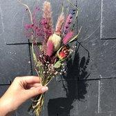 Droogbloemen | Roze tinten | Droogbloemen boeket | Gedroogde bloemen | Droogbloem boeket