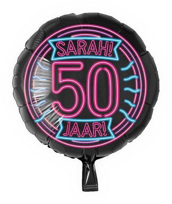 Sarah Helium Ballon 50 Jaar Neon 46cm leeg