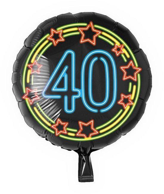 Helium Ballon 40 Jaar Neon 46cm leeg