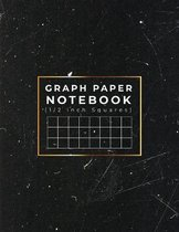 Graph Paper Notebook: 1/2 inch Squares - Quad Ruled Grid Paper Notebook For School