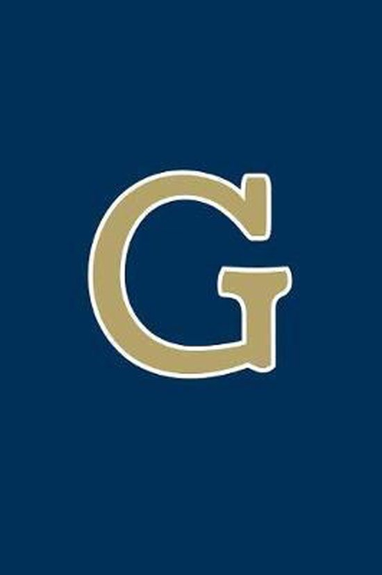 G: Monogram Journal, Notebook or Diary. Navy Blue with Gold Alphabet Initial Letter - 6'' x 9'' 110 College Ruled Blank Lin