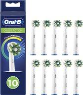 Oral-B CrossAction - Opzetborstels- Met CleanMaximiser-technologie - Wit - 10 Stuks