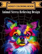 Adult Coloring Book Animal Stress Relieving Designs