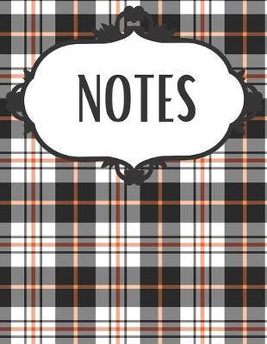 Halloween Plaid Autumn Notebook: A Witchy Composition Notebook