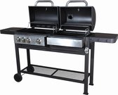 BBQ met twee grillzone's | gas + steenkool