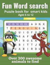 Fun word search puzzle book for smart kids