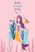 Mermaid Coloring Book For Girls Age 4-8