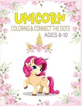 Unicorn Coloring & Connect the dots ages 8-10