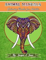 Animal Mandala Coloring Book for Adults