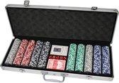 Pokerset 500 chips in aluminium koffer