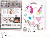 Knutselpakket Krimpie Dinkie Krimpfolie Unicorn - knutselen meisjes