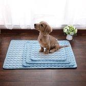 DF2020 - Pets Cooling Mat - Koelmat Hond en Kat - 62x50cm - Lichtblauw