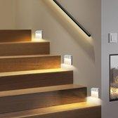 WiseGoods Premium Trapverlichting LED Bewegingssensor Lamp - Wandlamp Binnen Woonkamer - PIR Motion Sensor - Kast Licht - 3 Stuks