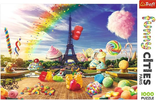 Puzzel Funny Cities Parijs 1000 Stukjes