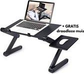 Premium Laptop Standaard - Laptop Tafel - Laptop Cooler - Laptop Standaard Verstelbaar - Laptop Koeler - Laptop Standaard Opvouwbaar - Inclusief GRATIS Draadloze Muis