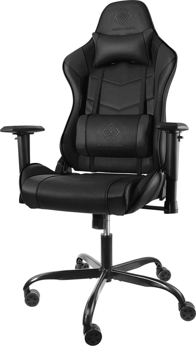 DELTACO GAM-096 Gaming stoel in kunstleder - met nek- en rugkussen - Zwart