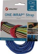 Velcro® ONE-WRAP® klittenband kabelbinder 20mm x 150mm Blauw