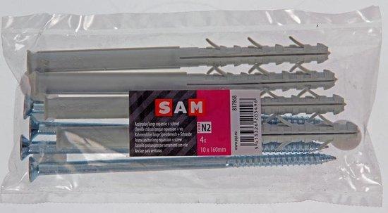SAM Kozijnplug + Schroef Lange Expansie 4 stuks 10 x 160 mm