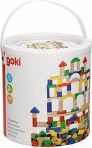 Goki | Houten blokken in ton (100 stuks)