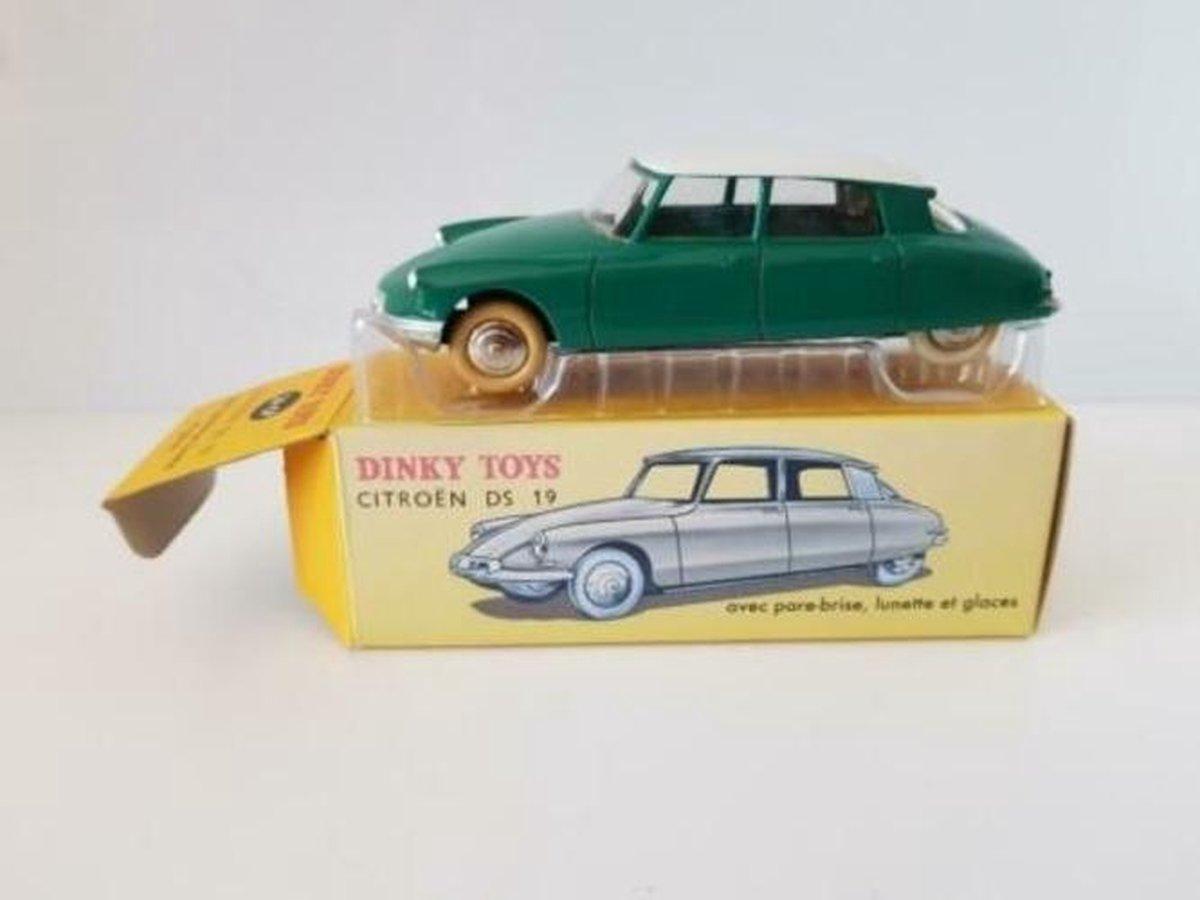 Citroën DS 19 ? Dinky Toys 1:43 Groen - Modelauto - Schaalmodel - Miniatuurauto - Model auto