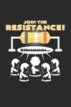 Join the resistance: 6x9 Buddha - dotgrid - dot grid paper - notebook - notes