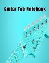 Guitar Tab Notebook: Beautiful Blue Fender Guitar Inspiring Sheet Music 8.5x11 120 Pages