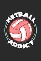 Netball addict: 6x9 Netball - grid - squared paper - notebook - notes