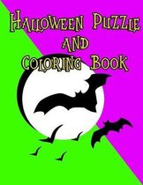 Halloween Puzzle and Coloring Book: Crosswords, Sudoku, Word Searches and Coloring Pages