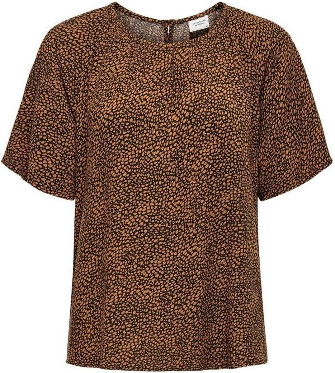 Jdypearl S/s Top Wvn 15209000 Black/leather Brown