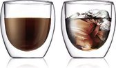 Bodum Pavina Dubbelwandig Glas - Klein - 250 ml - 2 stuks