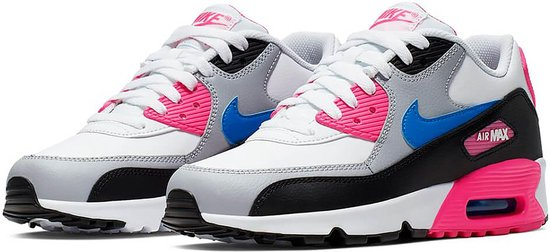 Nike Air Max 90 LTR (GS) - White/photo blue-black - Maat 38