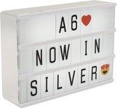 Lightbox A6 Zilver Magnetisch Inclusief 100 Letters Cijfers en Symbolen