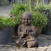 Boeddha Beeld Shoalin Mediterend - Boeddhabeeld 40 cm Limited Roest Kleur