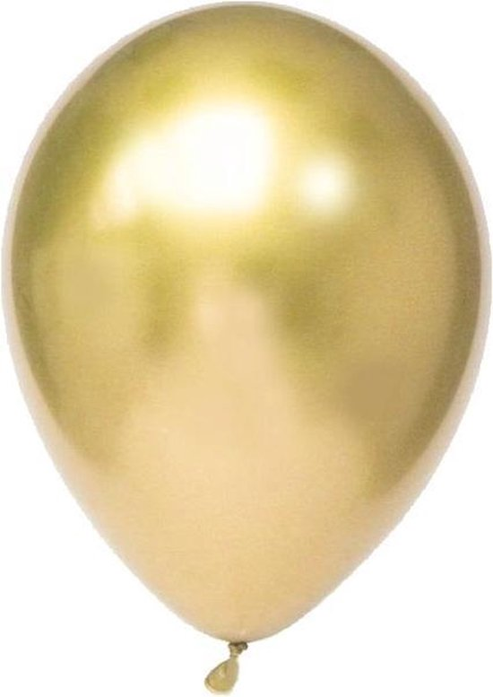 Chroom Ballonnen Goud (10st) House Of Gia