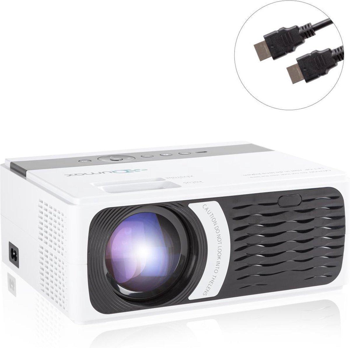Qumax Pro Mini Beamer met HDMI kabel - Projector Beamer - 4000 lumen