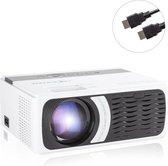 Qumax Pro Mini Beamer met HDMI kabel - Projector Beamer - Compact En Draagbare Beamer - Mini Projector - Ervaar De Ultieme Filmbeleving - 4000 lumen