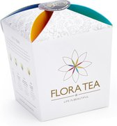 Thee cadeau : Flora Tea giftbox met 4 theebloemen assorti