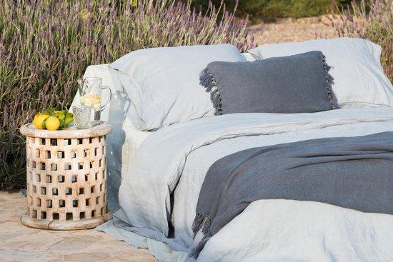 Passion for Linen Luxe dekbedovertrek Maxime 100% linnen, 135 x 200 cm, donkergrijs