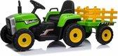 Kindervoertuig - elektrische tractor met aanhanger - 12V accu, 2 motoren accuvoertuig accuauto kinderen