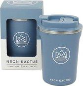 Koffiebeker To Go - Thermosbeker - Travel Mug - Neon Kactus - Super Sonic - Blauw - 380ml