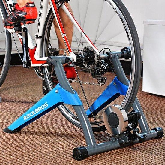 Decopatent® Fietstrainer - Rollenbank fiets 26-28 Inch of 700C wielen - Hometrainer - Racefiets - Mountainbike - Aluminium - Blauw
