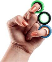 Spinners - Fidget Toys - Spinner voor TikTok - Magneet Vinger Spinner - Magnetische ringen - Finger Spinner - Fidget Magnet Spinner - Ook voor Tiktok videos - Anti Stress Magnetic Ring