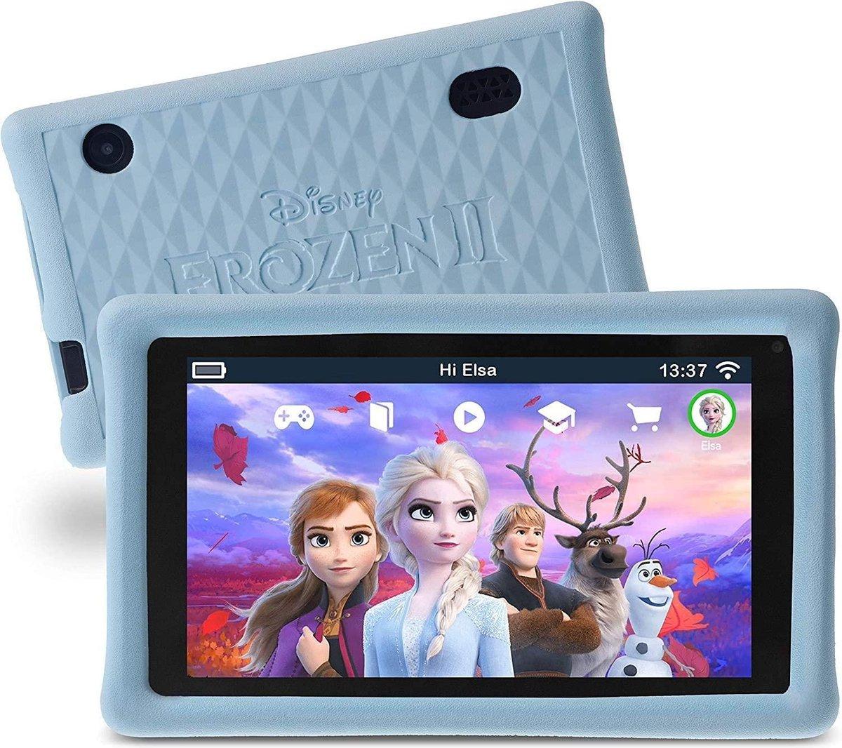 Pebble Gear Kindertablet Disney Frozen Set Etui- 7 inch – 1GB – Android 8.1- 500 spelletjes – Ouderlijk toezicht
