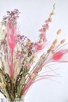 Droogbloemen boeket 40 cm| Roze Mix | Dried Flowers | Gedroogde bloemen