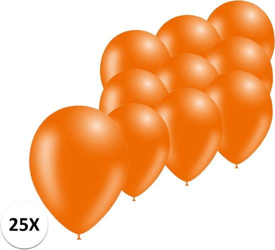 Oranje Ballonnen 25st Feestversiering EK Koningsdag WK Verjaardag Ballon